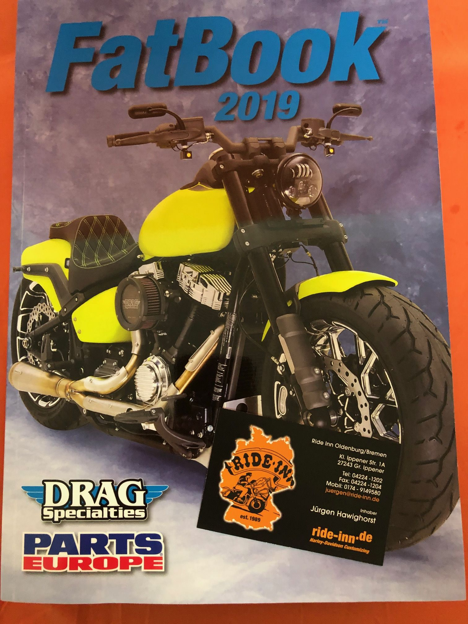 Katalog Drag Specialties parts Europe 2019