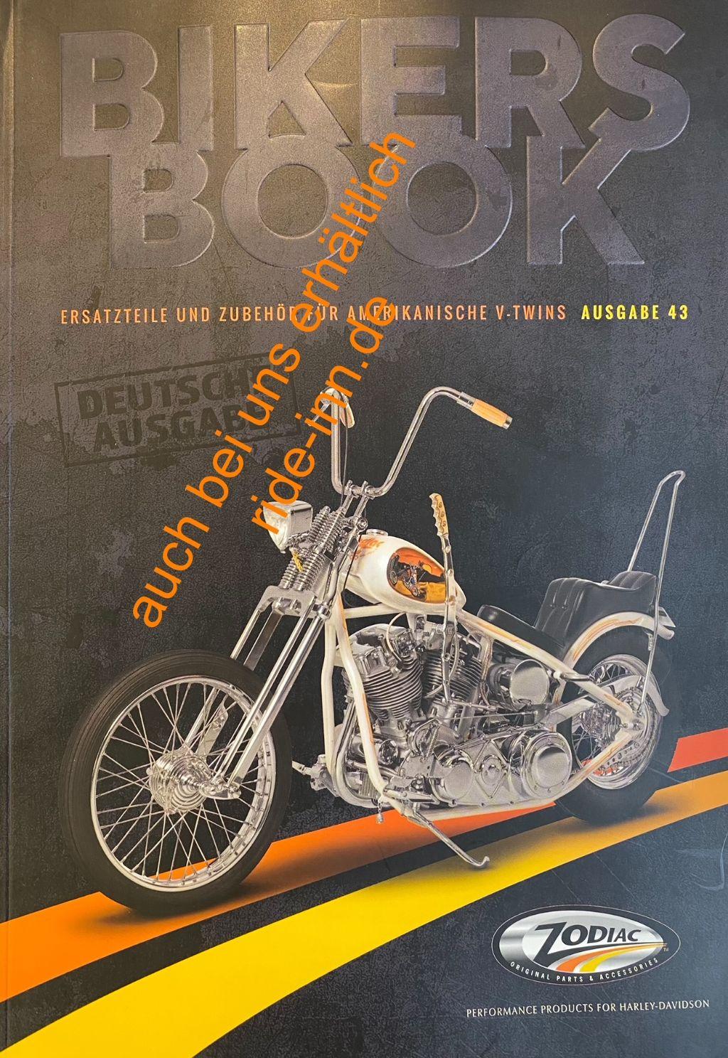 Zodiac katalog ausgabe 43 ersatzteile und zubehör für harley davidson motorräder